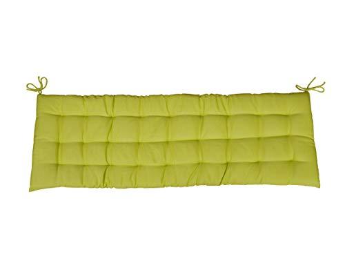 CB Home & Style Bankauflage Bankkissen 4 cm dick Sitzpolster Bank Gartenbank Auflage (120 x 40 cm, Grün)
