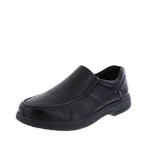 safeTstep Black Men's Slip Resistant Comfort Moc...