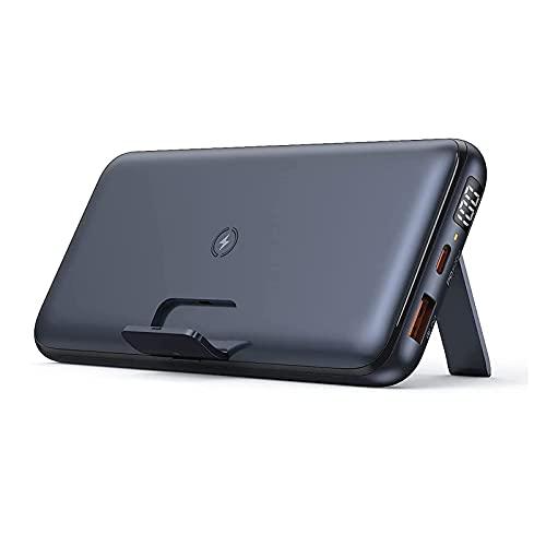 Cargador Portátil Inalámbrico 20000mAh, USB C Power Bank PD 3.0 con Soporte Plegable, Batería Externa Teléfono Carga Rápida Powerbank para iPhone 12/12 Pro / 11 / XR, Samsung, IP-ad Air
