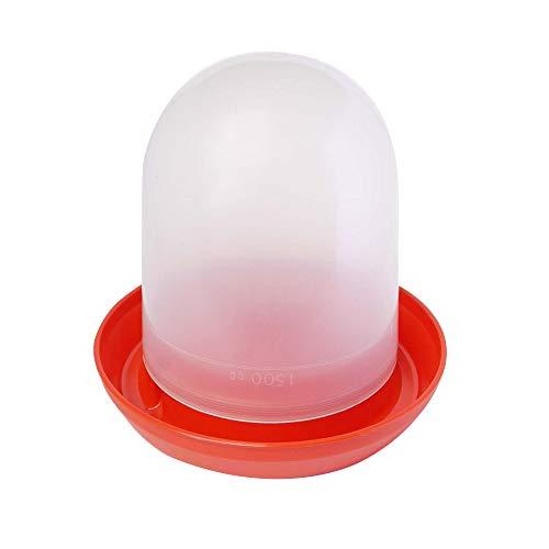 Quiko - Fontaine en plastique (1.5 Litre) - Volaille (1.5 litres) (Blanc/Rouge)