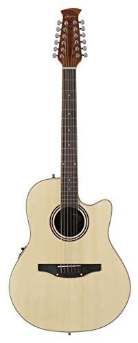 Ovation Applause E-Akustikgitarre AB2412II-4 mid Cutaway 12 string natural
