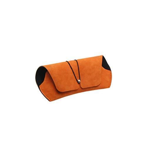 zwyjd Funda de piel sintética portátil de viaje suave para gafas de sol para mujeres, hombres y niños, color naranja