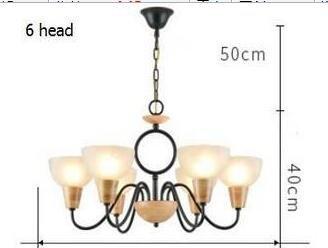 WINZSC Nordique Salon lumières Chambre Pendentif lumières Lampes Bois journaux Style américain Pays LU807127 (Size : 6head)