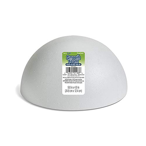 FloraCraft SmoothFoam Hollow Half Ball 4.9 Inch x 9.8 Inch White