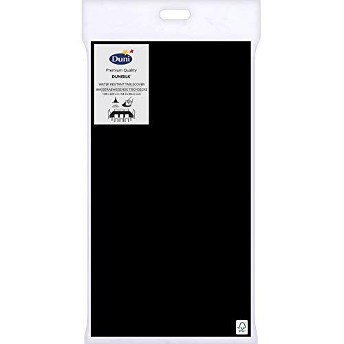 Duni Tischdecke Dunisilk®+ schwarz 138 x 220 cm 1 St.