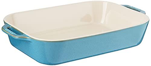 STAUB Ceramics Rectangular Baking Dish, 13x9-inch, Rustic Turquoise