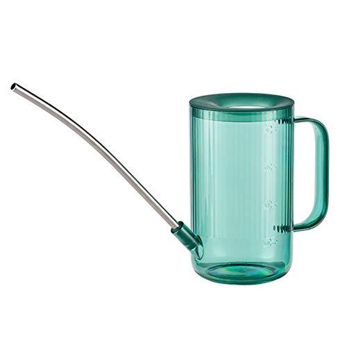 1 litro/35oz Annaffiatoio Cilindrico con Becco Lungo in Acciaio,Inox Attrezzo per Innaffiare Pianta da Giardino per Piante da Appartamento,Piante da Scrivania per Internied Estern (Verde)