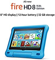 "All-new Fire HD 8 Kids Edition tablet | 8"" HD display, 32 GB, Blue Kid-Proof Case"
