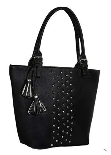 Blue Fusion Women's Handbag (HB-019_Black)