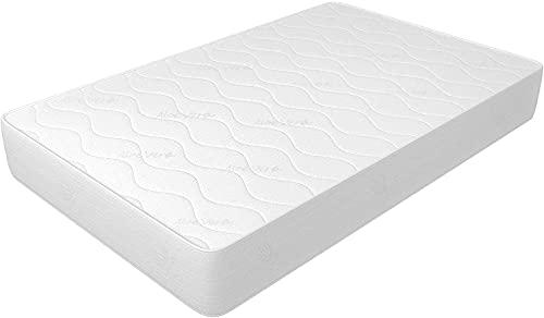 Colchón de 135 x 190 cm, altura de 14 cm, de WaterFoam, tejido Aloevera, indeformable, hipoalergénico y antiácaros, firmeza media, modelo Plus H14