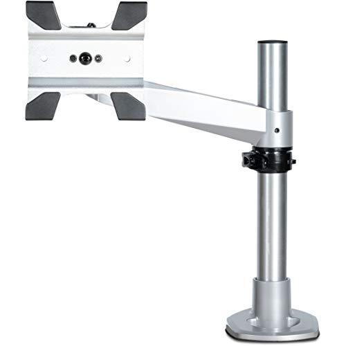 Startech. Com startech. Com desk mount monitor arm - vesa or apple imac/thunderbolt display up to 14kg - articulating height adjustable single desktop monitor pole mount - clamp/grommet - silver