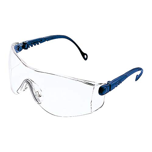 Honeywell 1000018 Op-Tema Safety Eyewear Frame with Clear Anti-Scratch Lens - Blue