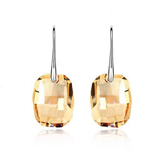 Katylen - Pendientes de cristal con imagen de sueño, creativos, para bricolaje, pendientes a mano, pendientes de oro