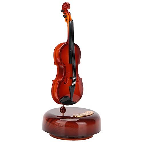 GAESHOW - Caja de música para Guitarra, decoración de Instrumentos clásicos con Base para decoración de gabinete de Vino, Regalo, Caja Musical a Cuerda