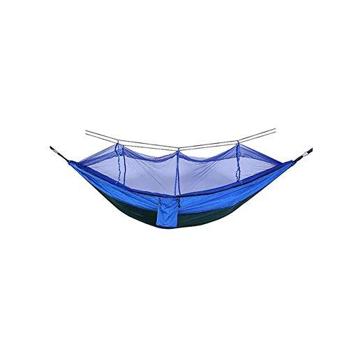 Hebon Hamaca de camping con mosquitero automático de apertura rápida, hamacas antidesgarros, hamaca de paracaídas para interior y exterior, camping, mochileros, viajes, senderismo, playa