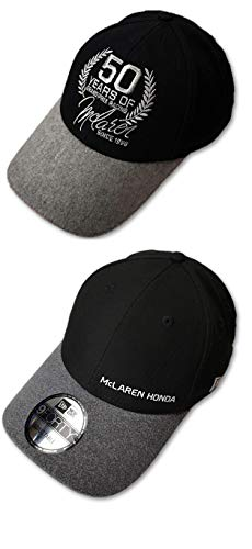 McLaren Honda F1 Team Membros Negro y McLaren 50 años Gorras (2 tapas)