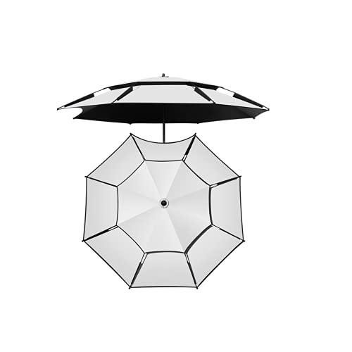 Parasol de Cantilever 2M, sombrillas de jardín, paraguas de patio con mango de manivela e inclinación, 16 nervaduras paraguas, ajuste de 360 °, protección UV para la sombra del sol al aire libre