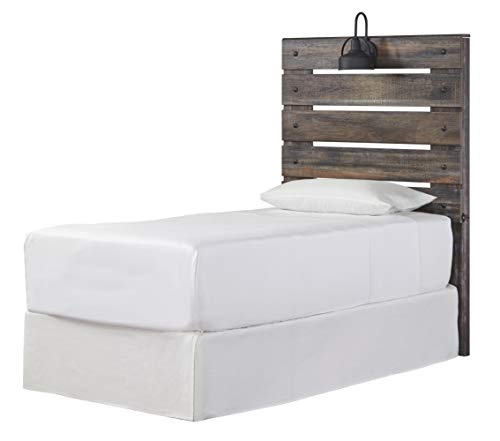 Visit the Signature Design By Ashley - Drystan King Panel Headboard - Brown on Amazon.