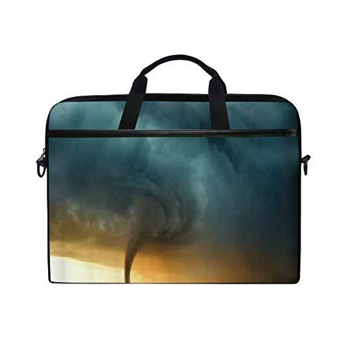 VICAFUCI New 15-15.4 Zoll Laptop Tasche,Umhängetasche,Handtasche,Tornado-Naturkatastrophen-Wiesen-Bauernhof Dragon Hurricane