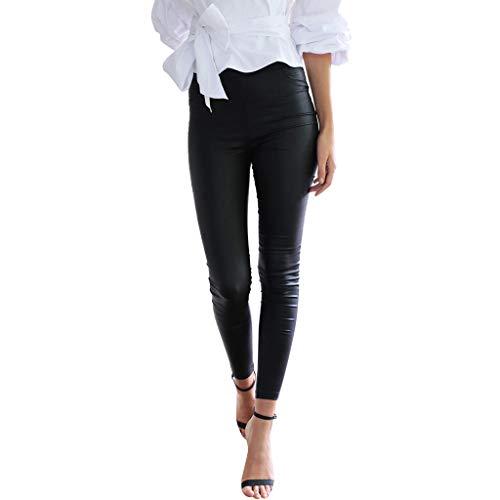 FRAUIT dames skinny broek kunstleer leer lange broek treggins leggings broek sexy heupbroek met zakken