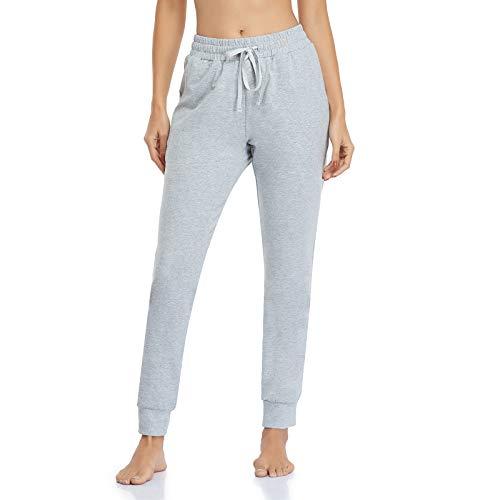 Ollrynns Pantalones Chándal Mujer Algodón Largos Jogging Pantalón Deportivos con Bolsillos para Yoga Fitness Jogger Correr Casual N061