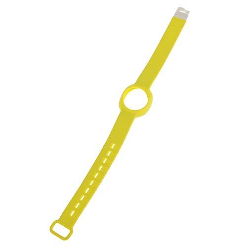 perfeclan Correa De Pulsera Ajustable con Correa De Reloj Deportivo De Silicona para Jawbone UP Move - Amarillo