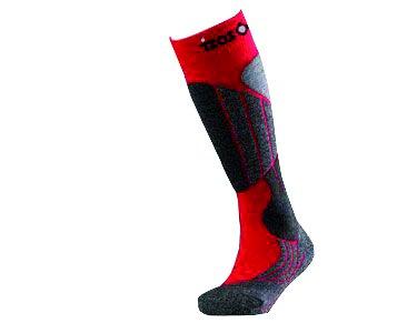 IZAS FONTAN Chaussettes Homme, Noir Rouge, FR : L (Taille Fabricant : 41-43)