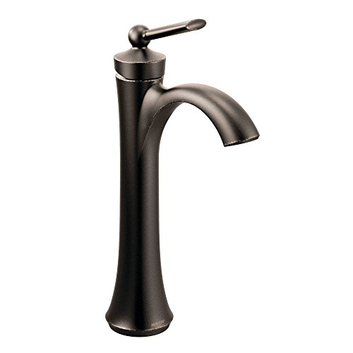 Moen 4507ORB Wynford One-Handle High Arc Vessel Bathroom Faucet, Oil Rubbed Bronze