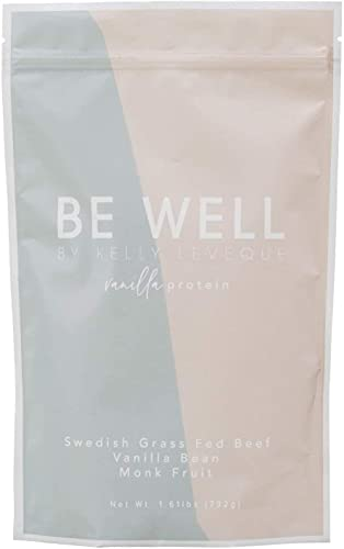 Be Well by Kelly - Swedish Grass-Fed Beef Protein Powder - Paleo and Keto Friendly, Dairy-Free & Gluten-Free - Low Carb Protein Powder with BCAAs & Collagen - 23g Protein (Vanilla - 30 Servings)