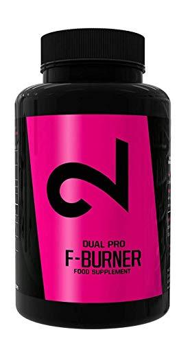 Dual Pro F-burner | Bruciagrassi Potente Per Uomini e Donne | 100 Capsule Vegane | Dimagrire Senza Sport | Efficace Soppressore Naturale Dell'Appetito | Integratore Estremamente Forte |Senza Additivi