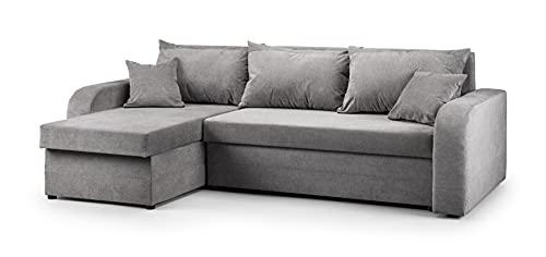 Honeypot - Sofa - Kris Universal - Schlafsofa - Kunstleder/Stoff (komplett grau)