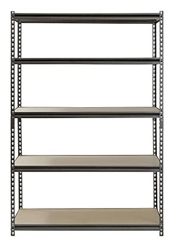 "Hardware & Outdoor Heavy Duty Garage Shelf Steel Metal Storage 5 Level Adjustable Shelves Unit 72"" H x 48"" W x 24"" Deep"