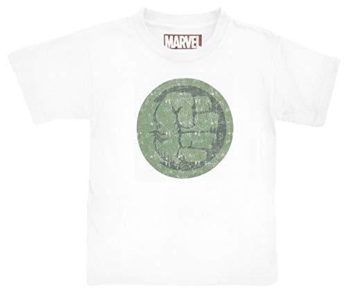 Hulk Jungen Bohulkcts001 T-Shirt, Blanc, 116