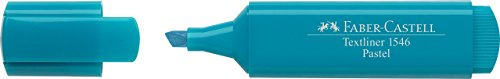 Faber-Castell 154658–Scatola con 10Evidenziatori Textliner 1546Pastello, Colore: Blu Turchese
