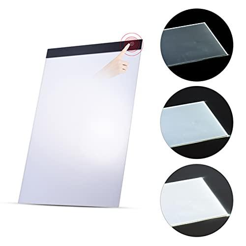 aibesy mesa de luz a3 Caja de luz LED portátil A3 Trazador de dibujo Trazador Tablero de copia Tablero de tablero Panel de copiado con función de memoria Control de brillo continuo para animación