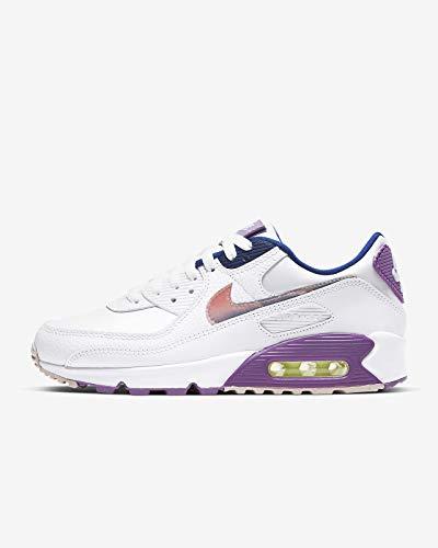 Nike Damen Air Max 90 Se Women's Shoe Laufschuh, White/Multi-Color-Purple Nebula, 40 EU