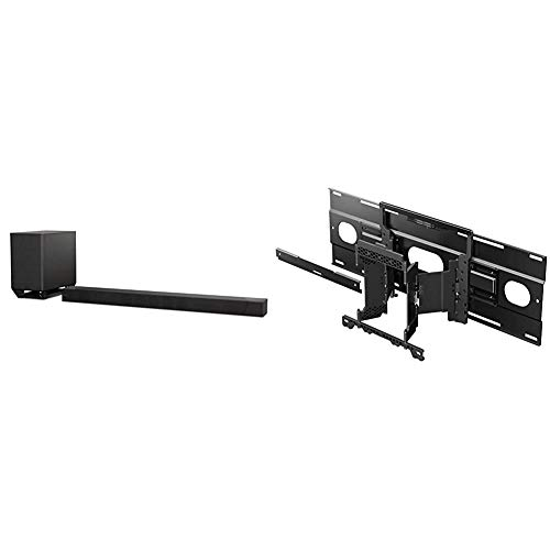 Sony ST5000 7.1.2ch 800W Dolby Atmos Soundbar with Wireless Subwoofer (HT-ST5000), Black & SU-WL855 Ultra Slim Wall-Mount Bracket for Select Sony BRAVIA OLED and LED TVs