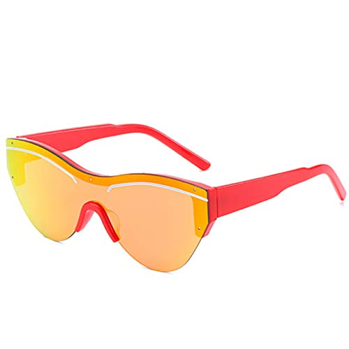 HAOMAO Gafas de Sol deOjo de GatoVintage para Mujer, Gafas de SolTriangulares Retropara Mujer,Gafas con Letras Uv400 Transparente