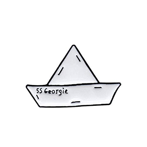 BBLLBrosche Kreative Papier Boot Papier Flugzeug Metall Emaille Brosche Liebe Welle Eisberg Drift Flasche Abzeichen Pin Nette Trendy Schmuck ZubehörStil