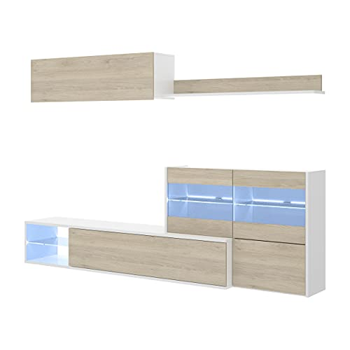 Mueble de salón Modular de diseño Moderno con Luces led UMA de...