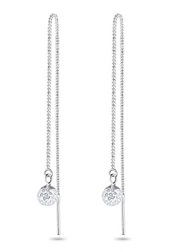 Elli Ohrringe Damen Hänger Kugel mit Swarovski® Kristalle in 925 Sterling Silber