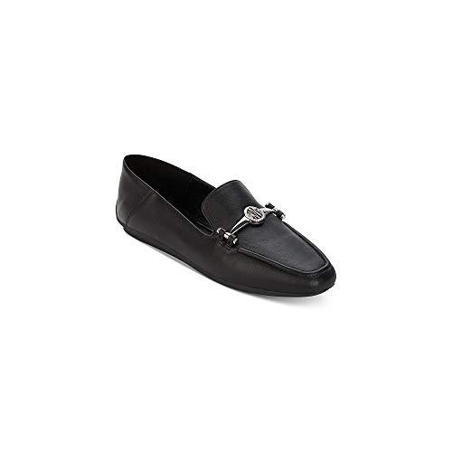 DKNY Frauen Mocassin Leder Loafers Schwarz Groesse 6.5 US /37.5 EU