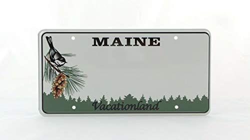 Inga Maine Us Usa License Plate Number Plate Embossed Custom Oblong Mounting Hole License Plate Signs 6x12 inches
