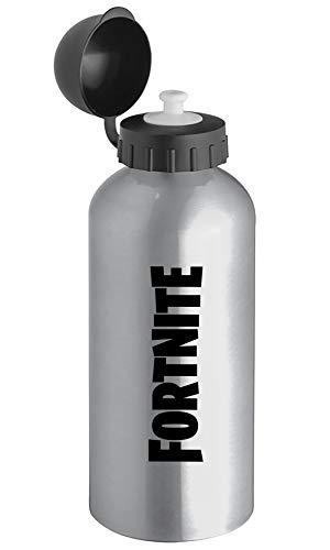Giano Srl Botella de agua de aluminio y acero – 600 ml   con cierre hermético – apta para deportes, guardería, escuela, niños   sin BPA (frecuentes)