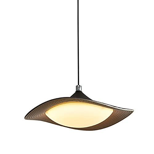 Luz colgante de hierro forjado LED de 20W, cuerpo de lámpara de metal en forma de frisbee + Lámpara de acrílico Lámpara, luces de tres colores ajustables, lámparas de colgantes simples nórdicas para d