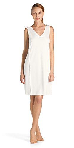 Hanro Damen o.Arm 95 cm Pure Essence Nachthemd, Elfenbein (off white 0102), 46/48 (Herstellergröße: L)
