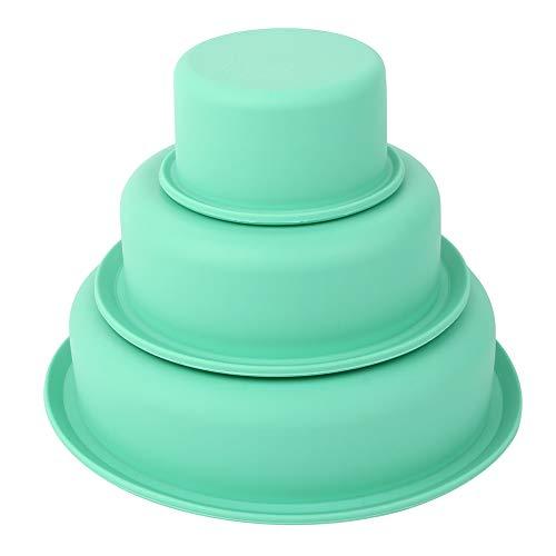 Set mit 3 runden Kuchenformen 8 Zoll/6 Zoll/3 Zoll, Antihaft-Silikon-Backform Kuchenform für Schichtkuchen Käsekuchenform