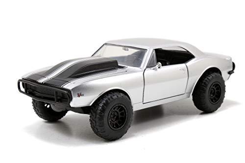 Jada Toys Fast & Furious Roman's 1967 Chevy Camaro, Auto, Tuning-Modell im Maßstab 1:24, zu öffnende Türen, Motorhaube und Kofferraum, silber