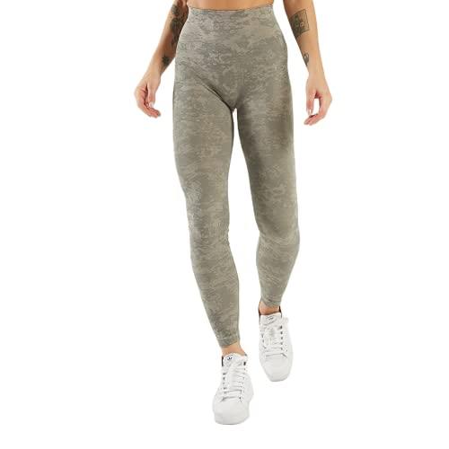 QTJY Pantalones de Yoga sin Costuras de Camuflaje Push Leggings Altos Pantalones de Yoga de Fitness para Mujer Pantalones de Entrenamiento de Celulitis de Cintura Alta A L