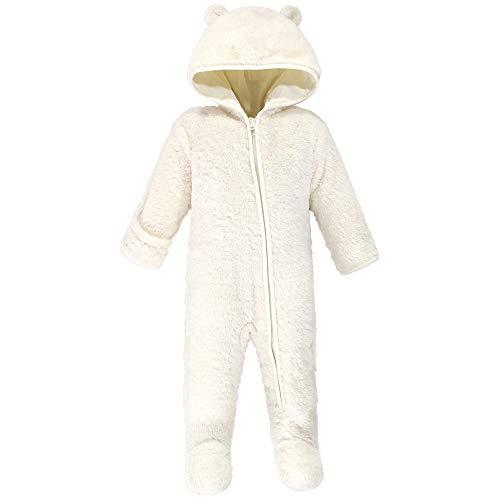 Hudson Baby Unisex Baby Fleece Sleep and Play, CREAM BEAR, 0-3 Months
